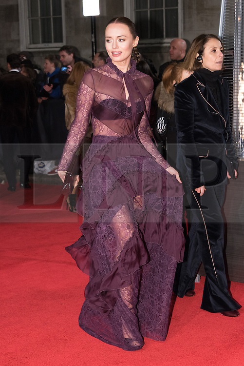 © Licensed to London News Pictures. 05/12/2016. LAURA HADDOCK arrives for The Fashion Awards 2016 celebrating the best of British and international fashion. London, UK. Photo credit: Ray Tang/LNP