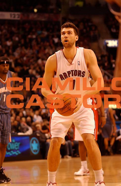 DESCRIZIONE : Toronto NBA 2009-2010 Toronto Raptors Charlotte Bobcats<br /> GIOCATORE : Andrea Bargnani<br /> SQUADRA : Toronto Raptors<br /> EVENTO : Campionato NBA 2009-2010 <br /> GARA : Toronto Raptors  Charlotte Bobcats<br /> DATA : 30/12/2009<br /> CATEGORIA :<br /> SPORT : Pallacanestro <br /> AUTORE : Agenzia Ciamillo-Castoria/V.Keslassy<br /> Galleria : NBA 2009-2010<br /> Fotonotizia : Toronto NBA 2009-2010 Toronto Raptors  Charlotte Bobcats<br /> Predefinita :