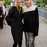 11.05. 2017.                                                 <br /> Over 20 leading Irish and international fashion media and influencers converged on Limerick for 24 hours on, Thursday, 11th May for a showcase of Limerick&rsquo;s fashion industry, culminating with Limerick School of Art &amp; Design, LIT, presenting the LSAD 360&deg; Fashion Show, sponsored by AIB.<br /> Pictured at the event were, Anne Melinn, LSAD and Gemma Williams, Vogue Italia. Picture: Alan Place