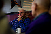 MONTICELLO, IA – JANUARY 6: Jerry Retzlaff considers a political discussion over breakfast at Darrell's in Monticello, Iowa on January 6, 2017.