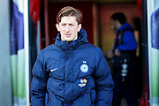Peterborough Utd midfielder Alex Woodyard (4) arriving in the stadium before the EFL Sky Bet League 1 match between Doncaster Rovers and Peterborough United at the Keepmoat Stadium, Doncaster, England on 9 February 2019.
