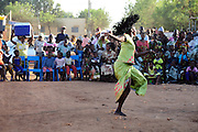 Dancer celebrating the 13th anniversary of the association for the defence of women's rights in Banakabougou, a Bamako district. 2011