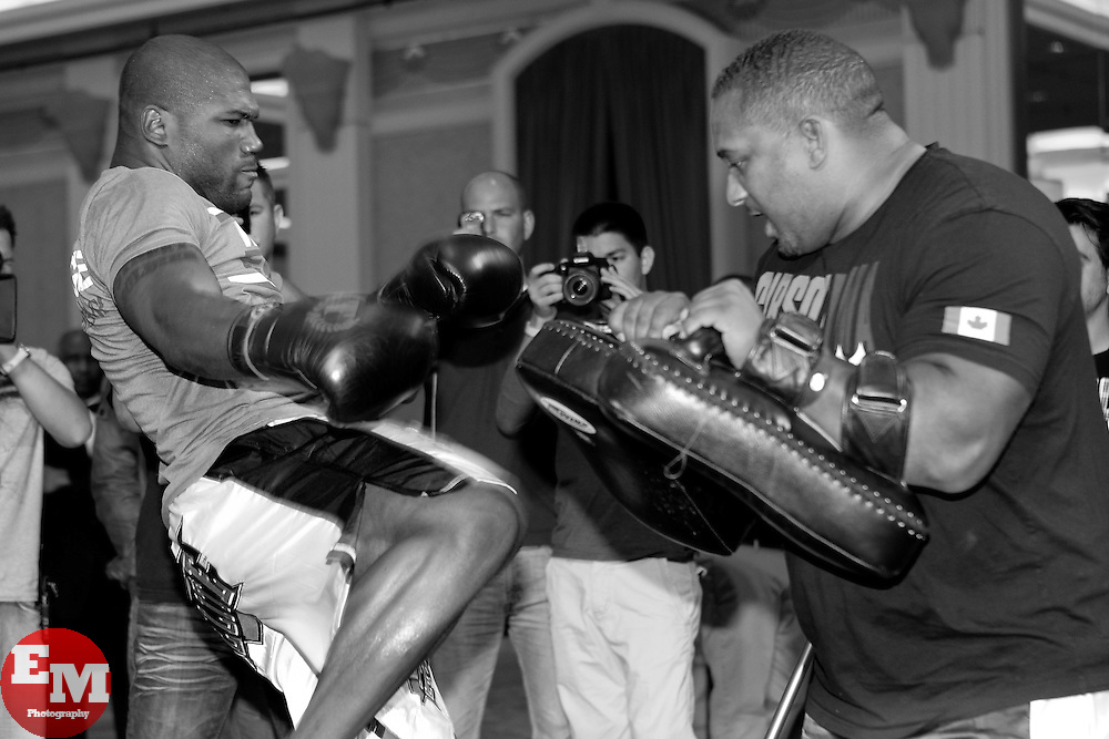"""May 26, 2011; Quinton """"Rampage"""" Jackson works out for the media in preparation for UFC 130 at the MGM Grand in Las Vegas, NV."""