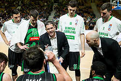 Aleksandar Saso Nikitovic, coach of Petrol Olimpija during basketball match between KK Petrol Olimpija and KK Krka in Round #11 of ABA League 2018/19, on December 16, 2018 in Arena Tivoli, Ljubljana, Slovenia. Photo by Vid Ponikvar / Sportida