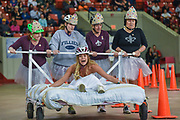 The teams and scene at Kentucky Derby Festival Thorntons Great Bed Races, held Monday, May 1, 2017, at Broadbent Arena in Louisville, Ky. (Photo by Brian Bohannon)