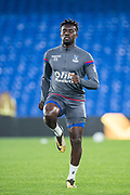 Crystal Palace #23 Pape Souare during the warm up at EFL Cup match between Crystal Palace and Huddersfield Town at Selhurst Park, London, England on 19 September 2017. Photo by Sebastian Frej.