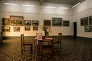 Room of an old house in Yangon - used as an art gallery.