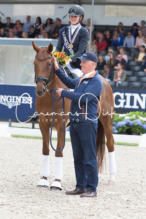 Van Der Velden Kim, NED, Guadeloupe-Beau<br /> World Championship Young Dressage Horses <br /> Ermelo 2016<br /> &copy; Hippo Foto - Leanjo De Koster<br /> 30/07/16