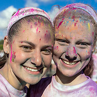 Portraits of a few Color Run participants in Chicago