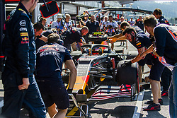 August 31, 2019, Spa, Belgium: Red Bull's British driver Alexander Albon pictured during the free trial sessions ahead of the Spa-Francorchamps Formula One Grand Prix of Belgium race, in Spa-Francorchamps, Saturday 31 August 2019. (Credit Image: © Nicolas Lambert/Belga via ZUMA Press)