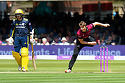 Tom Abell of Somerset bowling during the Royal London 1 Day Cup Final match between Somerset County Cricket Club and Hampshire County Cricket Club at Lord's Cricket Ground, St John's Wood, United Kingdom on 25 May 2019.