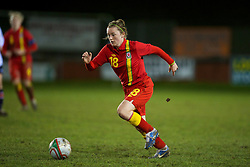 NEWTOWN, WALES - Friday, February 1, 2013: Wales' Lia Lewis in action against Norway during the Women's Under-19 International Friendly match at Latham Park. (Pic by David Rawcliffe/Propaganda)