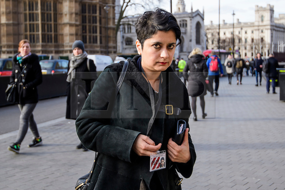 © Licensed to London News Pictures.07/03/2017.London, UK. Labour Peer, BARONESS CHAKRABARTI arrives at Parliament to vote in the Lord's on the third reading of the Brexit bill. .Photo credit: Ben Cawthra/LNP