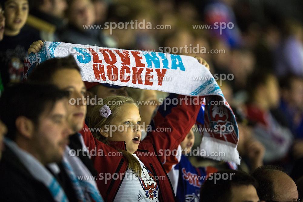 Fans during ice-hockey match between Slovenia and Austria in Slovenia Euro ice hockey challenge, on November 10, 2012 at Hala Tivoli, Ljubljana, Slovenia. (Photo By Matic Klansek Velej / Sportida)