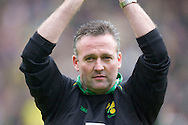Norwich City - Saturday May 8 2010: of Norwich City Manager Paul Lambert celebrates after winning the championship league at Norwich city's last match of the season against Carlisle at Carrow Road, Norwich. (Pic by Rob Colman Focus Images)