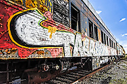 Abandoned Passenger Coach covered in Graffiti