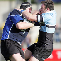 Shannon's Eddie Halvey is held back  by the Galwegians defence in thier meeting in the AIB All Ireland League Match in Thomand Park on Saturday. Pic. Brian Arthur/ Press 22.