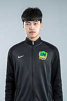 Portrait of Chinese soccer player Leng Shiao of Guizhou Hengfeng Zhicheng F.C. for the 2017 Chinese Football Association Super League, in Guiyang city, southwest China's Guizhou province, 23 February 2017.
