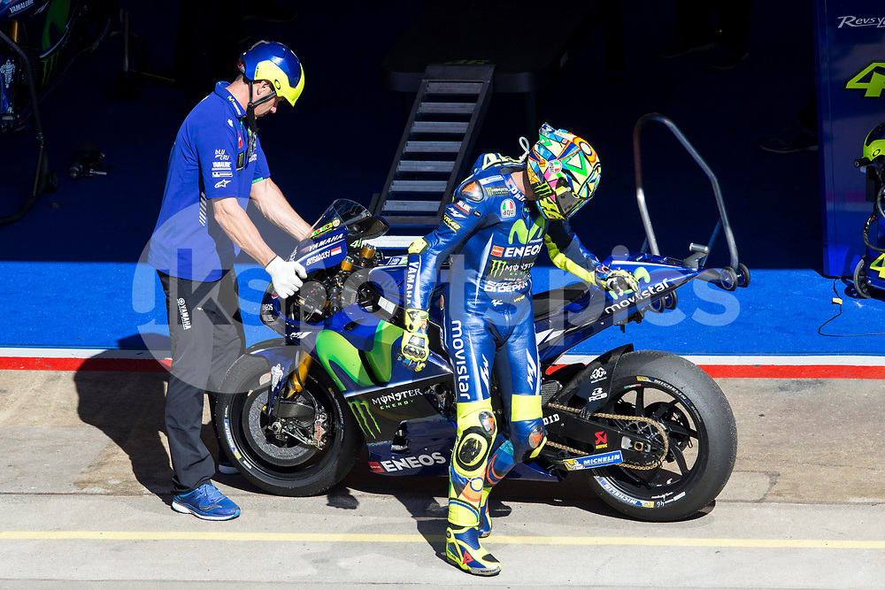 Valentino Rossi of Italy and Movistar Yamaha MotoGP during the race of  MotoGP of Catalunya at Circuit de Catalunya on June 11, 2017 in Montmelo, Spain.(Asenjo Sesma / AFP7)