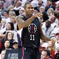 25 April 2016: Los Angeles Clippers guard Jamal Crawford (11) reacts during the Portland Trail Blazers 98-84 victory over the Los Angeles Clippers, during Game Four of the Western Conference Quarterfinals of the NBA Playoffs at the Moda Center, Portland, Oregon, USA.