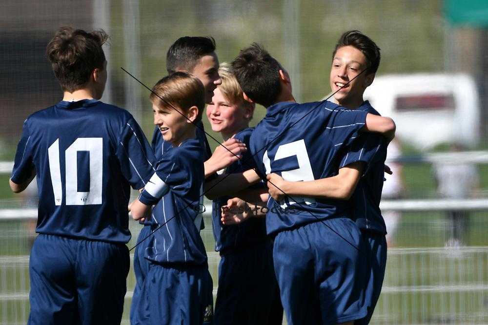 08.04.17; Zuerich; Fussball FCZ Academy - Grasshopper Club - Zuerich FE14 Oberland; <br /> Jubel Membrino Nunez Alessandro (Zuerich) <br /> (Andy Mueller/freshfocus)