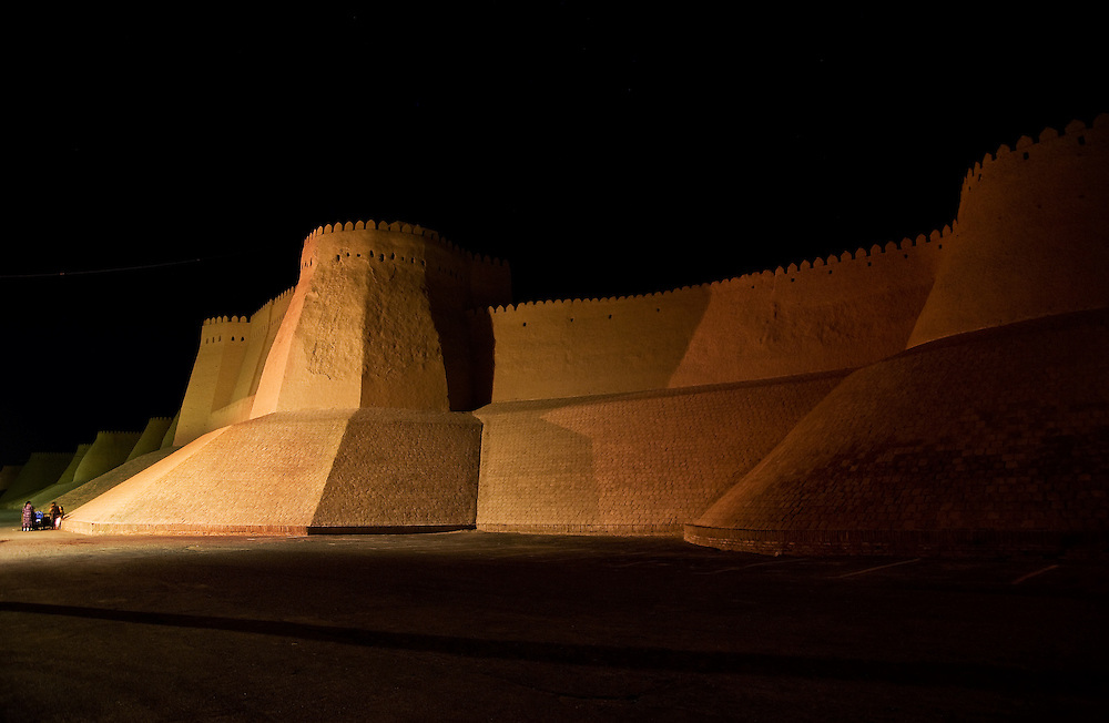 Khiva is a World Heritage site along the Silk Road in Uzbekistan.
