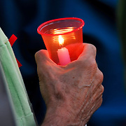 AIDS Candlelight Vigil, remembrance of love ones who died of AIDS