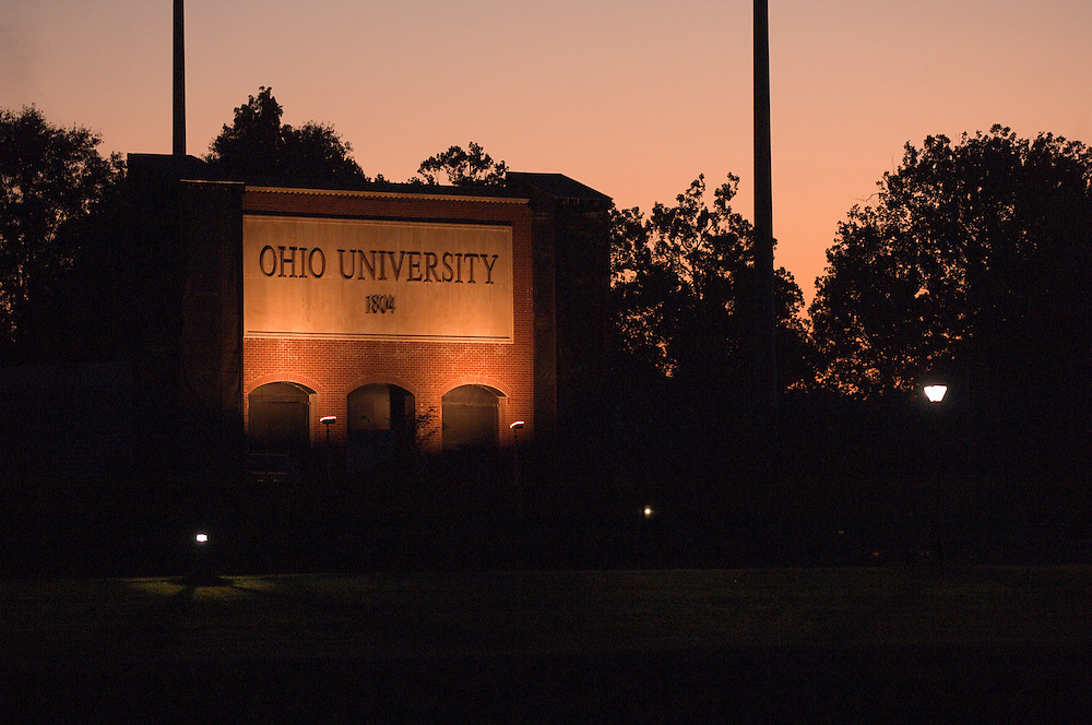 18378 Campus Fall..Ohio University sign