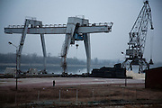 The idle port of Prahovo, Serbia..Matt Lutton for the Financial Times.