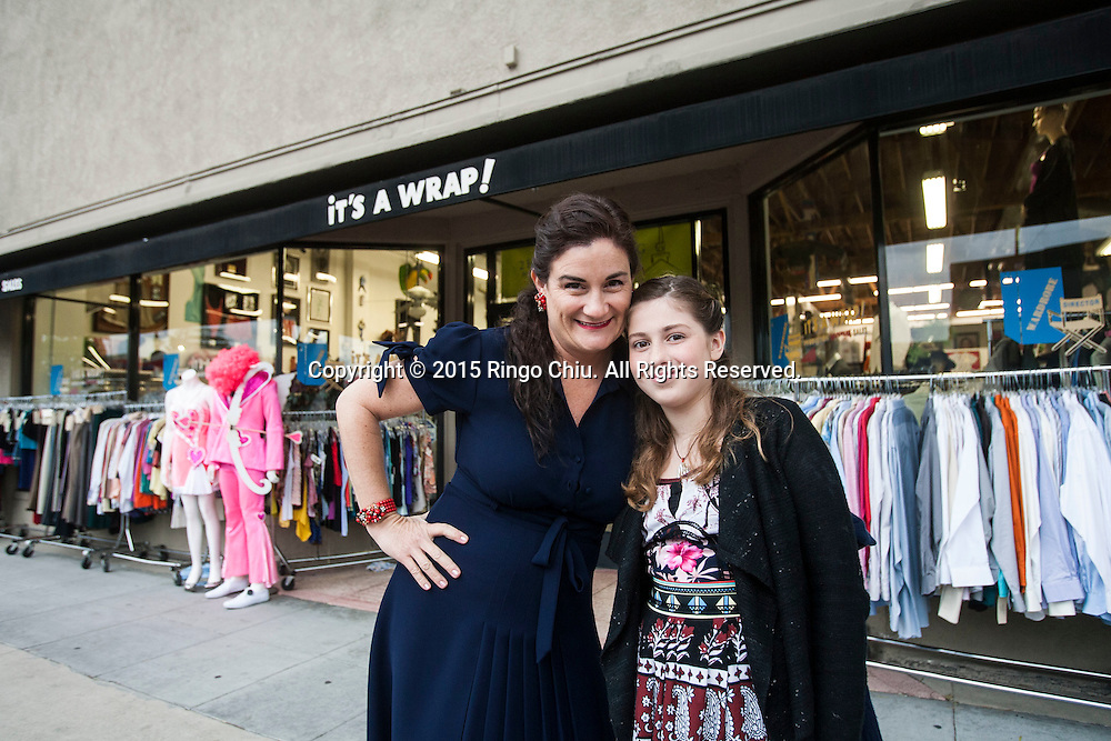 The owner of movie clothes store It's A Wrap, Tiara Nappi, and the fashion loving 10-year-old daughter, Audrey, at their store in Burbank. (Photo by Ringo Chiu/PHOTOFORMULA.com)
