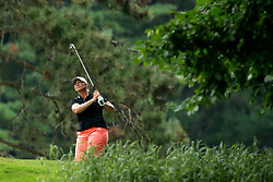 July 14, 2018 - Sylvania, Ohio, United States - Angela Stanford of the United states tees off on the second tee during the third round of the Marathon LPGA Classic golf tournament at Highland Meadows Golf Club in Sylvania, Ohio USA, on Saturday, July 14, 2018. (Credit Image: © Jorge Lemus/NurPhoto via ZUMA Press)