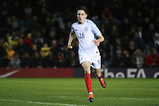 England U18 forward George Hirst (16) during the U18 International match between England and France at London Road (ABAX Stadium), Peterborough, England on 14 November 2016. Photo by Nigel Cole.