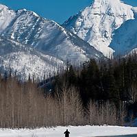 gnp winter photographer, flathead river valley