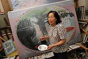 JUNKO KAYASHIGE.  Hiroshima A-Bomb survivor.  Painter.