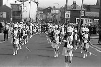 Hickleton Main banner, 1983 Yorkshire Miner's Gala. Barnsley