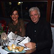 Start showboat rederij Lovers, Ben Cramer en vrouw Carla van der Waal