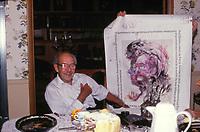 Joseph Franken w a French portrait that looks like him