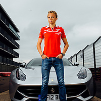 @F1RACING<br /> Silverstone<br /> 30th May 2014<br /> Max Chilton lap Silverstone GP Circuit in a Ferrari F12<br /> Images copyright Malcolm Griffiths<br /> Contact:07768 230706<br /> www.malcolm.gb.net