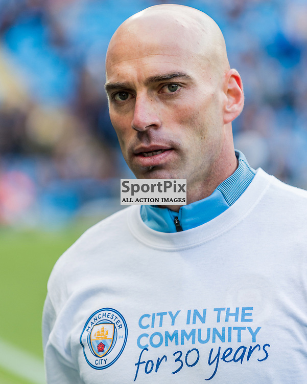 Manchester City goalkeeper Wilfredo Caballero (13) before the Premier League match between Manchester City and Southampton<br /> <br /> (c) John Baguley | SportPix.org.uk