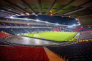 General view inside Hampden Park, Glasgow, Scotland, United Kingdom before the UEFA European 2020 Group I qualifier match between Scotland and Kazakhstan on 19 November 2019.