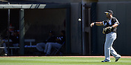 SURPRISE, AZ - MARCH 10:  Jose Abreu #79 of the Chicago White Sox warms up prior to the spring training game between the Kansas City Royals and Chicago White Sox on March 10, 2015 at Surprise Stadium in Surprise, Arizona. (Photo by Ron Vesely)   Subject:  Jose Abreu