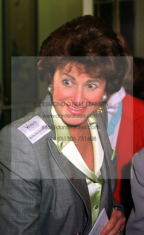 The HON.MRS CAROL LAWSON at a luncheon in London on 11th October 1999.<br /> MXJ 10