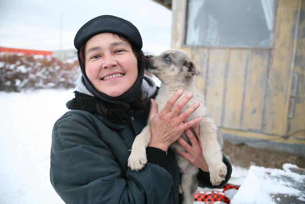 KOTZEBUE - OCTOBER 28 2009. Iva Baker at her home in Kotzebue, Alaska.