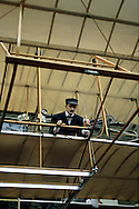 A 28.5 MG FILE FROM FILM OF:.The Wright Brothers Plane on exhibit at the Smithsonian Air and Space Museum in Washington, DC. Photo by Dennis Brack