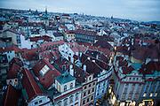 Blick vom Altstaedter Rathaus auf das Prager Stadtpanorama in Richtung Wenzelsplatz.