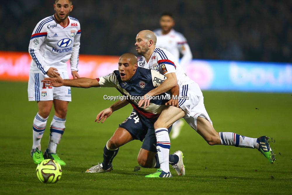 Whabi KHAZRI / Christophe JALLET - 21.12.2014 - Bordeaux / Lyon - 19eme journee de Ligue 1 -<br />Photo : Manuel Blondeau / Icon Sport