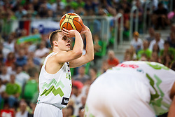 Klemen Prepelic of Slovenia during qualifying match between Slovenia and Kosovo for European basketball championship 2017,  Arena Stozice, Ljubljana on 31th August, Slovenia. Photo by Grega Valancic / Sportida