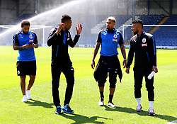 Rajiv van La Parra of Huddersfield Town talks with his team mates on the pitch before kick off - Mandatory by-line: Matt McNulty/JMP - 15/07/2017 - FOOTBALL - Gigg Lane - Bury, England - Bury v Huddersfield Town - Pre-season friendly