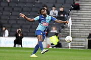 Wycombe Wanderers defender Anthony Stewart (5) clears his lines during the EFL Sky Bet League 1 match between Milton Keynes Dons and Wycombe Wanderers at stadium:mk, Milton Keynes, England on 1 February 2020.