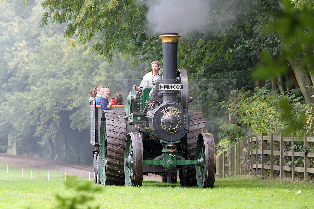 """© Licensed to London News Pictures. 06/10/2013. Steam train enthusiasts made the most of today's glorious autumn sunshine at the Bredhar and Wormshill Light Railway open day. The privately owned steam train light railway is a delightful 2 foot gauge line tucked away in the heart of the Kent countryside, England, near the village of Bredgar in a richly wooded area of the North Kent Downs. The railway  has two stations, a level crossing and over a dozen locomotives including the 100-year-old """"Eigiau"""".  Credit : Rob Powell/LNP"""